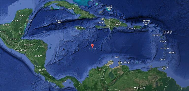 カリブ海 位置 クルーザー