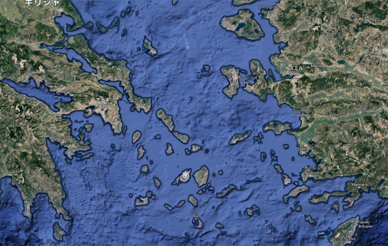 キクラデス諸島 位置 クルーザー