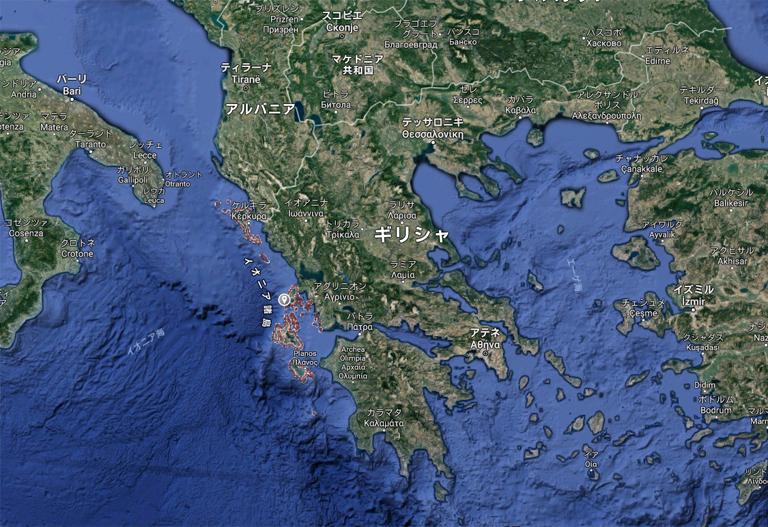 イオニア諸島 位置 クルーザー