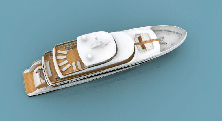 italiasuperyachts38m deckクルーザー
