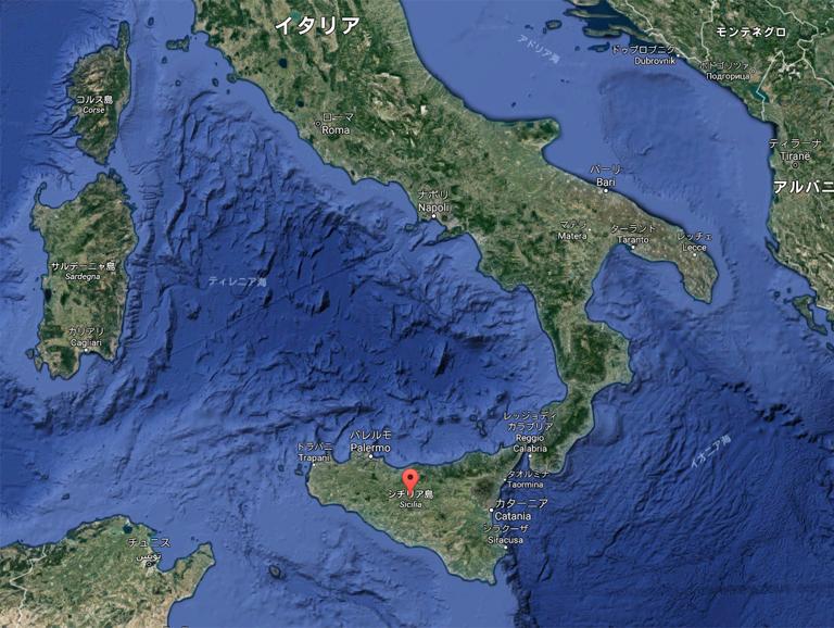 シチリア島 位置 クルーザー